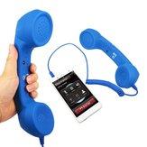 3.5mm Telepon Retro Handset Khusus Pengurangan Pencegahan Kebisingan Radiasi Syetem Pada Ponsel Penerima Headphone Mikrofon