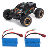 HBX 16889 with Two Battery 1/16 2.4G 4WD 45km/h Brushless RC Car LED Light Off-Road Truck RTR Model
