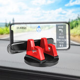 Bakeey 2-IN-1 Universal 360° Rotating Car Dashboard Mobile Phone Holder Mount with Luminous Number Parking Card Plate