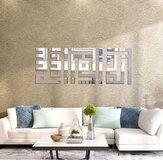 Adesivos de parede em espelho acrílico 3D Decalques de vinil Sala de estar ecologicamente correta Remova a decoração de adesivos de parede