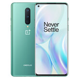 OnePlus 8 5G Global Rom 8 GB 128 GB Snapdragon 865 6,55 Zoll FHD + 90 Hz Aktualisierungsrate NFC Android 10 4300 mAh 48 MP Triple Rear Camera Smartphone