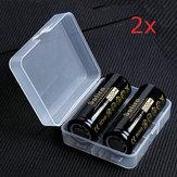 4PcsSofirn3.7V5000 mAh Baterai Isi Ulang 26650 Dilindungi Dengan Kasus Penyimpanan Baterai Lithium Kapasitas Tinggi Baterai Li-ion