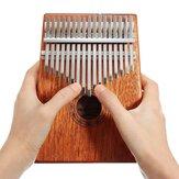 17 kláves Mahogany Kalimbas Palec s klavírním prstem s úložným vakem