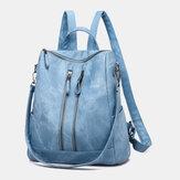 Kvinder Anti-tyveri skulder taske solid rygsæk