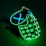 Máscaras Led Rave Glowing Party EL Mask Máscara de adereços cosplay Halloween Presente masculino