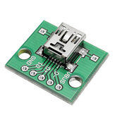 5pcs USB To DIP Female Head Mini-5P Patch To DIP 2.54mm Adapter Board