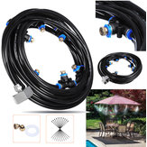 20M+3M Outdoor Mist Coolant System Water Sprinkler Garden Patio Mister Cooling Spray Kits Micro Irrigation Set With 36 Spray Nozzles