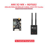 Eachine ROTG02+AKK X2-MX FPV Combo 200mW/500mW/800mW 5.8GHz 37CH Transmitter Receiver Black Support Smart Audio Pitmode for Android Phone Non-original