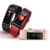 [Posicionamento GPS] Original Huawei Band 4 Pro AMOLED Tela colorida SpO2 Oxigênio no sangue Coração Monitor de taxa Aptidão Rastreador Relógio múltiplo com relógio inteligente