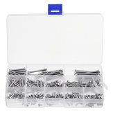 260Pcs M3 304 Stainless Steel Hex Socket Flat Head Screw Bolts Assortment Set