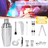 20PCS 750ml Stainless Steel Cocktail Shaker Mixer Drink Set Bartender Bar Party