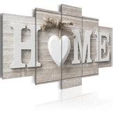 5 Panels Love HOME Wall Art Print-Bilder Leinwand Wand Drucke ungerahmtes Papier