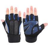 Men Women Fitness Gym Wristband Gloves Slip Riding