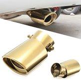 Universal 63mm Inlet Uitlaatdemper Tip Silencer Auto Gold Stainless Steel