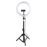 10 polegadas ajustável LED luz anelar luz de preenchimento selfie com tripé suporte ajustável do telefone cabeça do tripé para Maquiagem transmissão de vídeo ao vivo