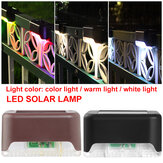 Solar Powered LED Caminho Paisagem Mount Outdoor Garden Stair Fence Lamp