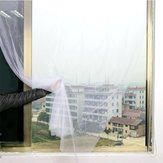 Honana WX-328 Wit Gordijn Insect Mosquito zelfklevende Deurraam Nylon Mesh Screen Net Sticky