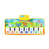 Musical Kid Piano Baby Crawl Mat Animal Educational Music Soft Kick Toy 5 modalità