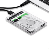All-Transparent High Speed ​​USB 3.0 para SATA HDD SSD Hard Drive Enclosure Storage Caso