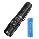Original              Astrolux® ST01 SST40/XHP50.2 3500lm Compace EDC Flashlight Basic UI USB Rechargeable Ultra-bright Mini LED Torch with Astrolux® E2145 28A 21700 High Drain Li-ion Battery
