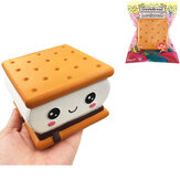 GiggleBread S'more Chocolate Biscuit Squishy 9,5 * 9 * 6CM Licensierad Slow Rising Med Packaging Collection Gift