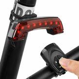 USB oplaadbaar achterlicht met claxonwaarschuwing achter fiets slimme draadloze bediening fietslamp