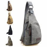Vintage Style Mannen Canvas Shoulder Casual School Messenger Travel Bag Crossbody