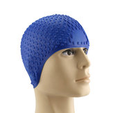 Mannen Vrouwen Comfy Stretchy Bubble Swim Cap Waterproof Silicone Caps