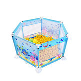 6 Sided Baby Playpen Playing House Interactive Kids Toddler Room With Safety Gate For 6 Months-8 Years Old Kid