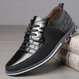 Erkek Hakiki Deri Ekleme Kaymaz Bağcıklı Soft Günlük Ayakkabı