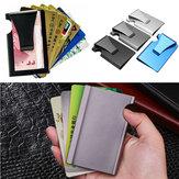ViagemaoarlivreAnti-rouboDe Metal Fino Titular do Cartão de Crédito RFID Bloqueio Carteira Dinheiro Clipe Bolsa