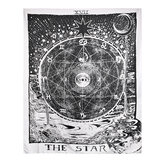 Indian Wall Hanging Tapestry Tarot Moon Sun copriletto copriletto in boemia