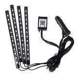 4 SZTUK 12 Taśma LED Light RGB Sterowanie głosem / APP Fairy Lights Lampa Party Wodoodporna