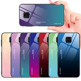 Bakeey für Xiaomi Redmi Hinweis 9 Gehäuse Farbverlauf Ausgehärtetes Glas Stoßfestes, kratzfestes Schutzgehäuse
