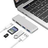 Bakeey 5-in-1 USB-C Docking Station Splitter Adattatore convertitore HUB per MacBook con alimentazione USB-C PD * 1 / USB3.0 * 2 / Lettore di schede di memoria