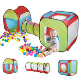 Portable 3 in 1 Childrens Baby Kids Play Tent Toddlers Tunnel Ball Pit Set Bambini Baby Cubby Playhouse