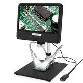Andonstar AD208S 8.5 Inch 5X-1200X Digitale Microscoop Verstelbare 1280 * 800 Lcd-scherm Microscoop 1080P Scope Soldeergereedschap met twee vullichten