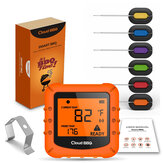Smart Wireless bluetooth Digitale thermometer met 6 probes Cooking BBQ voor iOS & Android
