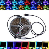 0,5 / 1/2/3/4 / 5M Non-Waterproof USB RGB SMD5050 LED Strip Light TV Фоновая лампа освещения Kit DC5V