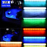 12 / 18LED RGB Car Interior Atmosfera Footwell Strip Light Controle de som USB / APP