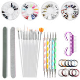 Dotting Pen Kit Nail Brush Dotting Painting Drawing Nail Art Brush Gel Polish Rhinestones Tools Gel Painting Pen