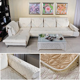 Cotton Quilted Embroidered Sofa Cushion Couch Slipcovers Backrest Towel Furniture Seat Cushion