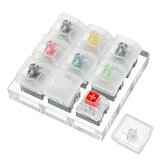9 Key Kailh BOX Switch Keyboard Switch Tester with Acrylic Base and Clear Keycaps