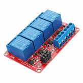 5V 4 Channel Level Trigger Optocoupler Relay Module Geekcreit for Arduino - products that work with official Arduino boards