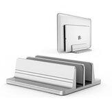 Adjustable 2 Slot Vertical Laptop Stand Notebook Holder Tablet Support Bracket