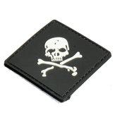 6x6 سنتيمتر الأسود الجمجمة 3d التكتيكية الجيش المعنويات بك المطاط التصحيح