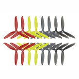 8 Pairs KINGKONG/LDARC 7040 3-blade CW CCW Propeller Yellow Red Black Gray for RC Drone FPV Racing
