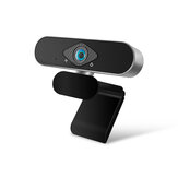 Xiaovv 1080P USB Webcam IP Camera 150° Ultra Wide Angle Image Optimization Beauty Processing Auto Foucus for Live Broadcast Online Teaching Meeting Conference Web Camera