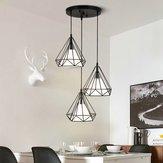 Ciondolo lampada per paralume per paralume in gabbia d'epoca da soffitto industriale E27