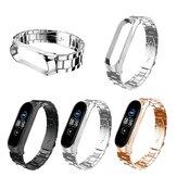 Bakeey Buckle Type Pełny pasek do zegarka ze stali nierdzewnej do Xiaomi Miband 5 Miband 5 NFC